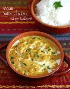 Indian Butter Chicken (Murgh Makhani). #chicken #indian daringgourmet.com
