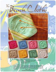 Ravelry: Store: Kris Knits - lots of different pattern sets for wash/dish cloths, plus a couple of other patterns as well. Knitting Squares, Dishcloth Knitting Patterns, Crochet Dishcloths, Baby Knitting, Knit Patterns, Knitting Stitches, Knitted Washcloths, Knitted Blankets, Crochet Chart