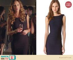 Laurel's black bandage dress on Arrow. Outfit Details: http://wornontv.net/20823 #Arrow #TheCW