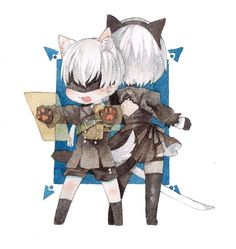 NieR: Automata ♥ and ♡ Baby Jail, Neir Automata, Like Image, My Little Baby, Character Costumes, Cute Art, Chibi, Video Games, Fandoms