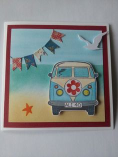 Campervan 40th Birthday card