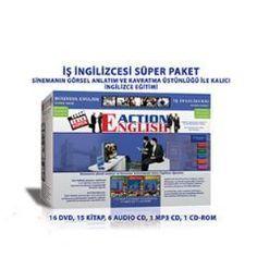 60 TL ORJİNAL Action English İş İngilizcesi Eğitim Seti 16 DVD + 15 Kitap + 6 Audio CD + 1 MP3 CD + 1 CD-ROM