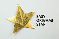 How to Make an Easy 5 Point Origami Star!