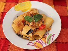 Paccheri con pesce spada e melanzane! - Paccheri with swordfish and fried egglant #cibo #ricetta #pasta #food #recipe