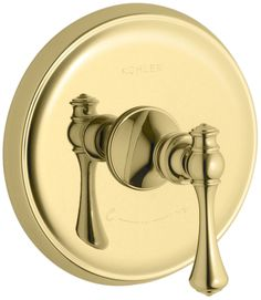 Revival Valve Trim with Traditional Lever Handle for Thermostatic Valve, Requires Valve
