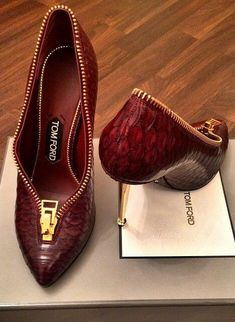 Tom Ford. A girl with good shoes is never ugly.