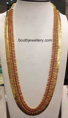 Top kasulaperu necklace designs in Gold Indian Wedding Jewelry, Indian Jewelry, Bridal Jewelry, Indian Bridal, Indian Jewellery Design, Jewelry Design, Latest Jewellery, Gold Jewelry Simple, Nice Jewelry