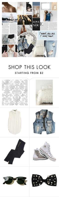 """- don't go breaking my heart."" by its-me-darling ❤ liked on Polyvore featuring Urban Outfitters, KEEP ME, Love Quotes Scarves, Vanity Fair, Taschen, Avenue, F, Converse, Ray-Ban and Miss Selfridge"