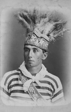 Alonwa Sekanennowhen (aka Thomas Ross) a Lacrosse player in Montreal, Quebec -Iroquois (Mohawk) – 1876