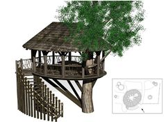 Tree House Plans - Wide Range of choices available and Free tree house plans includes everything which makes it most outrageous from simple. if you don't have trees that are right, this free-standing tree house can be built anywhere.