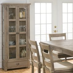 Jofran Slater Mill Pine Kitchen or Dining Room Display Cupboard *** For more information, visit image link. Storage Cabinet With Baskets, Ikea Storage Cabinets, Kitchen Cabinet Storage, Cupboard, Curio Cabinets, China Cabinets, Dining Cabinet, Dining Room Table, Dining Rooms
