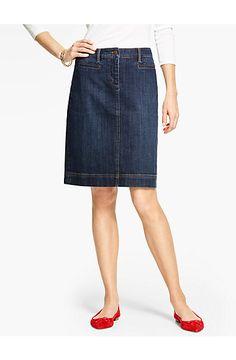 The Classic Denim Skirt - Talbots