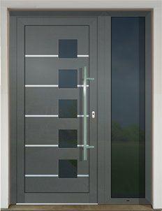GAVA 928 Basaltgrau domové dvere Tall Cabinet Storage, Locker Storage, Front Entrances, Gate Design, Door Ideas, Lockers, Drawers, Interior, House