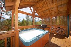 Morning Mist is a charming 2 story log cabin for rent in the Gatlinburg Smoky Mountains that features 2 bedrooms, 2 baths, King Size Beds, a Hot Tub, Pool Table, and TVs with Cable, a Gas Fireplace and 2 decks.