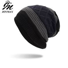 b008f4147a0 Joymay 2018 New Winter Beanies Hat Unisex Plain Warm Soft Skull Knitting Cap   fashion