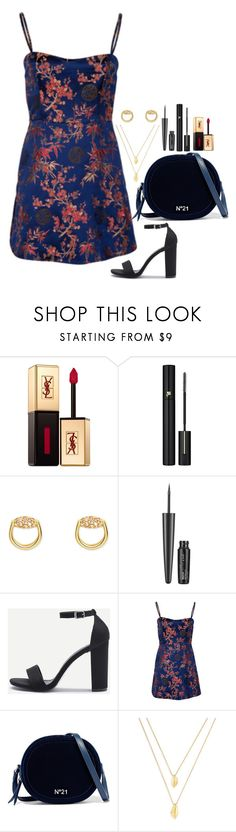 """""""Shanghai nights"""" by elo379 ❤ liked on Polyvore featuring Yves Saint Laurent, Lancôme, Gucci, Maybelline, N°21 and Jules Smith"""