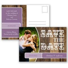 Rodeo Romance - Wisteria - Save the Date Postcard | Invitations By David's Bridal