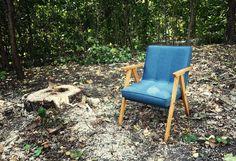 fotel z lat 60-tych  B-310 Var. Seria limitowana, wyprodukowany w Zakładach Mebli Giętych w Radomsku  lata 60/70 XX w.  Po całkowitej renowacji. #vintage #vintagefinds #vintageshop #forsale #design #midcentury #midcenturymodern #polish #radomsko #chair