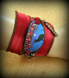 Warrior Cats Bracelet - Wrap Bracelet - Warrior Cats Jewelry - Cat Silhouette - Book Series - Fan - Young Reader - Dawn of the Clans