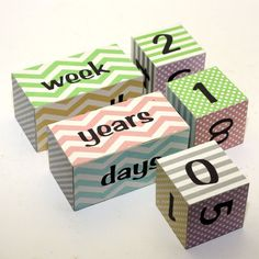 These are the ones I want!!!!    Photography Prop Countdown Blocks New Baby Pregnancy by KotiBeth, $25.00