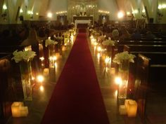 Church Wedding Decorations, Table Decorations, Candles, Weddings, Wedding Inspiration, Party, Cups, Vestidos, Wedding