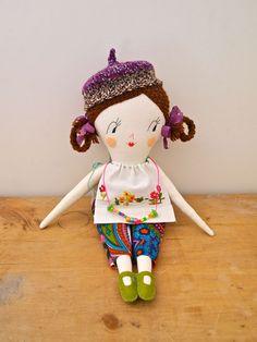 Molly Dolly rag doll heirloom quality, Tabitha
