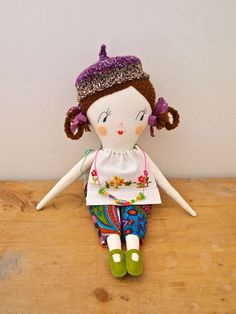 Molly Dolly rag doll heirloom quality, Tabitha via Etsy