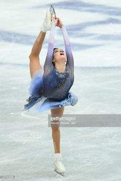 Evgenia Medvedeva of Russia competes in the ladies short program during the ISU Grand Prix of Figure Skating at on November 10, 2017 in Osaka, Japan.