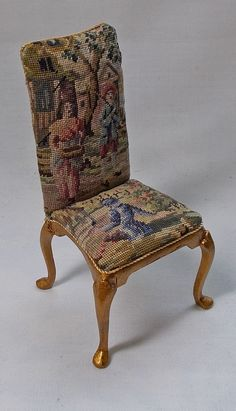 UNIQUE MINIATURES - MINIATURE PETIT POINT FURNITURE