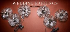 Wedding Earrings from Tejani available at Mira Bridal Couture
