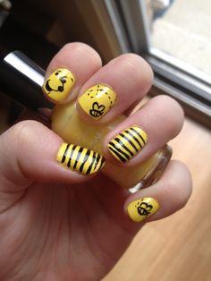 Winnie the Pooh nail art I did!
