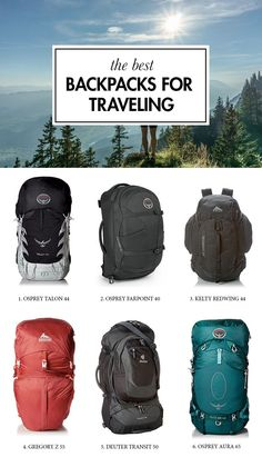 Looking for the best backpack for traveling? Look no further. We have compiled a list of the best travel backpacks, so you don't have to spend hours upon hours on research. ———— osprey talon and farpoint, kelty redwing, gregory deuter transit Travel Backpack Carry On, Hiking Backpack, Travel Packing, Travel Bags, Vacation Packing, Packing Lists, Quotes New York, Backpacking Tips, Travel Accessories
