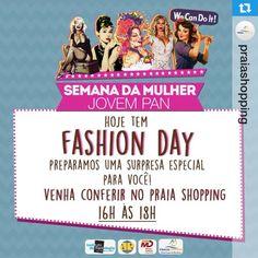 Já entramos no clima do Dia da Mulher e a semana está pra lá de especial aqui no Praia Shopping. Vem conferir e renovar o LOOK com nossos acessórios. Vem que estamos te esperando!!  #Repost @praiashopping with @repostapp.・・・O Praia e a @jovempannatal preparam uma surpresa para todas as mulheres. Vem curtir o Fashion Day com a gente HOJE ! #diadamulher #diainternacionaldamulher #fashionday #mulher #fashion #jovempan