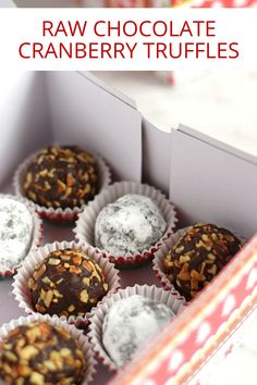 These Raw Chocolate Cranberry Truffles are the perfect little homemade treat to gift for the holidays and are dairy free, gluten free, paleo-friendly and vegan!