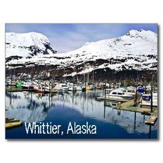 Whittier, Alaska, U.S.A. Postcard