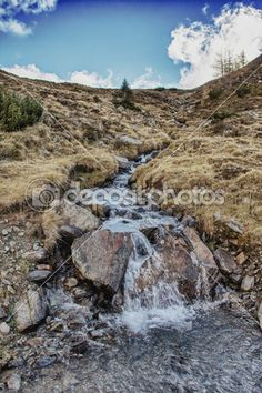 Nocky Mountains Blue Sky River
