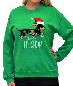 This sweatshirt is really funny. #christmas #dachshund #affiliate
