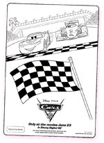 Disney Cars Coloring Page - Lightning McQueen and Francesco Bernoulli