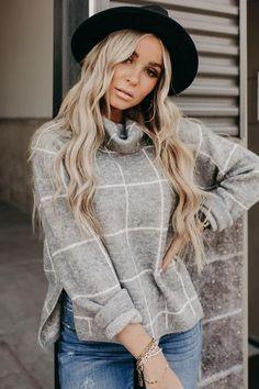 Grey Sweater, Cowl, Long Hair Styles, Sweaters, Shopping, Beauty, Fashion, Moda, Gray Sweater