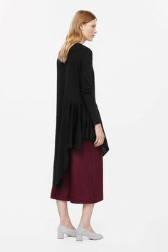 COS   Asymmetric knit tunic