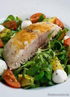 Gebratener Cobia auf Salat - Katha-kocht!