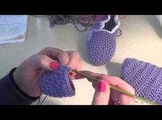 Μπαλαρίνες πλεκτές με βελονάκι - YouTube Βρεφικά Παπούτσια 45f4e7a46ec