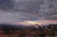 "Twilight by Tibor Nagy, Oil on linen ~ 11.8"" x 17.7"""