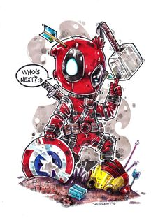#Deadpool #Fan #Art. (Chibi Deadpool) By: Dve6. (THE * 5 * STÅR * ÅWARD * OF: * AW YEAH, IT'S MAJOR ÅWESOMENESS!!!™)[THANK U 4 PINNING!!!<·><]<©>ÅÅÅ+(OB4E)     https://s-media-cache-ak0.pinimg.com/474x/1b/ea/b7/1beab70784a892fc89df1d0b14662bb8.jpg