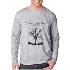 2016 Новых Осенью и зимой хлопок человек футболка геометрические длинные майка о-образным вырезом мода повседневная высокое качество печати т рубашка