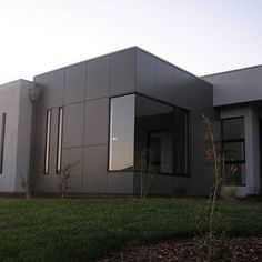 Martix cladding is a good choice for modern house design features like this design