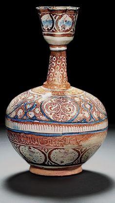Kashan lustre bottle, Persia, circa-1200AD