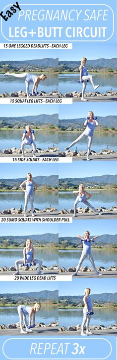 Pregnancy safe workout, leg and butt circuit #Pregnancy
