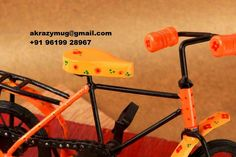 Iron Handpainted Bi Cycle.  #handpainted #artisans #joy #toy #homedecor #Indian #wroughtiron #handicrafts   Know more - www.akrazymug. com