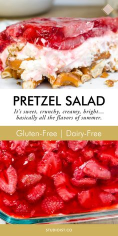 Salad Recipes Gluten Free, Gluten Free Sweets, Strawberry Recipes Gluten Free, Lactose Free Desserts, Dairy Free Salads, Desserts Keto, Gluten Free Pretzels, Dairy Free Snacks, Keto Recipes
